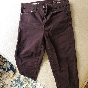Maroon Gap High waisted Skinny Pants